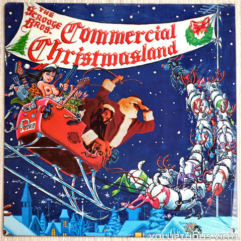 The Scrooge Bros ‎– Commercial Christmasland - Vinyl Record - Front Cover