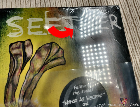 Seether ‎– Isolate And Medicate vinyl record front cover top right corner