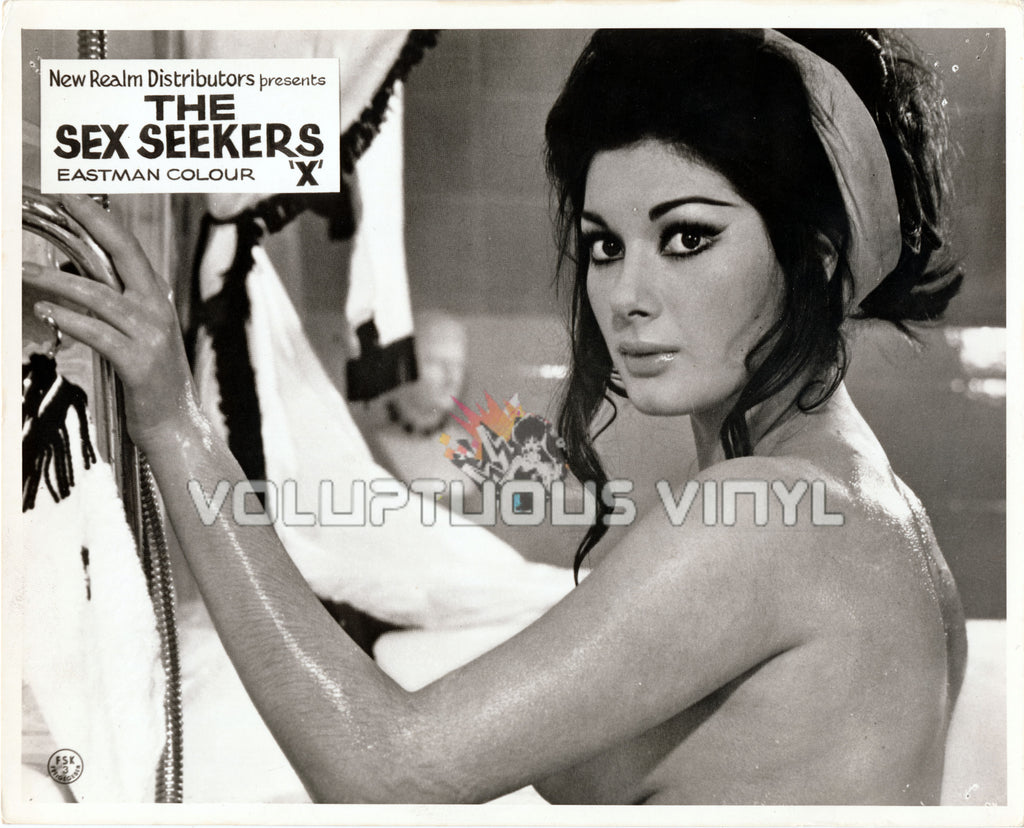 Madam and Her Niece (1969) - UK Lobby Card - Edwige Fenech Nude In Bathtub