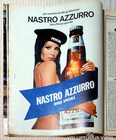 Sexy Italian Beer Ad - L'Europeo - April 22, 1971