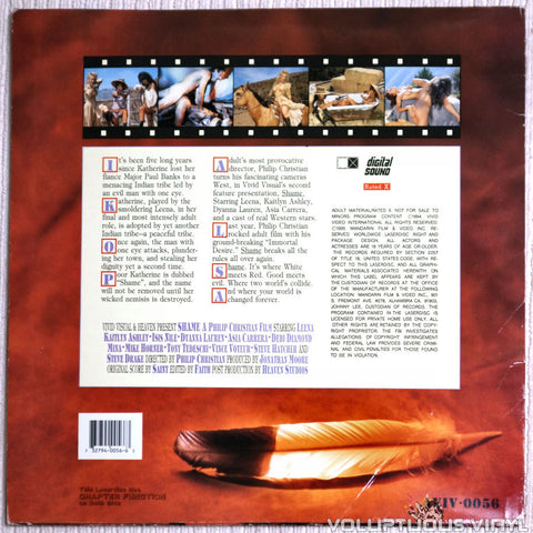 Shame - LaserDisc - Back Cover