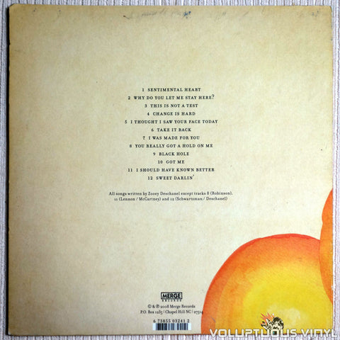She & Him ‎– Volume One - Vinyl Record - Back Cover