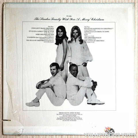 The Sinatra Family ‎– The Sinatra Family Wish You A Merry Christmas - Vinyl Record - Back Cover