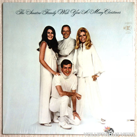 The Sinatra Family ‎– The Sinatra Family Wish You A Merry Christmas - Vinyl Record - Front Cover