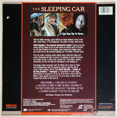 The Sleeping Car - Laserdisc - Back Cover