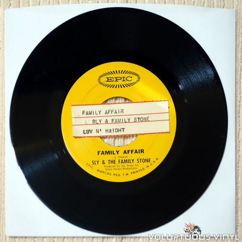 "Sly & The Family Stone ‎– Family Affair (1971) 7"" Single"
