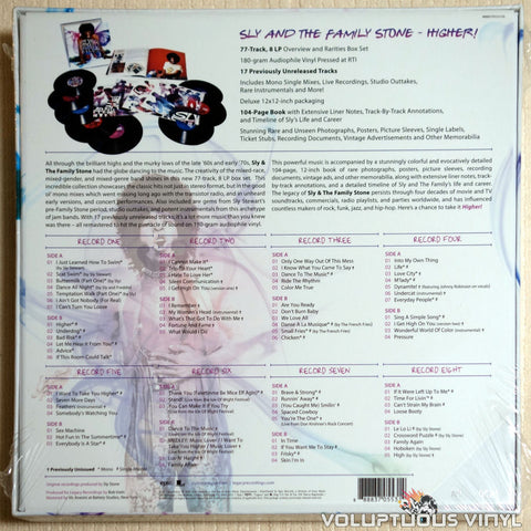 Sly And The Family Stone ‎– Higher! - Vinyl Record - Back Cover