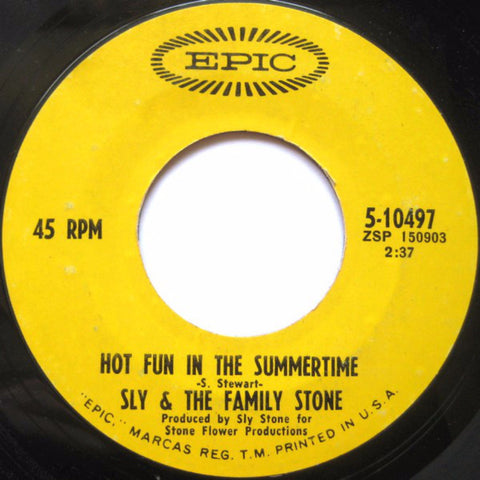 Sly & The Family Stone ‎– Hot Fun In The Summertime / Fun (1969)