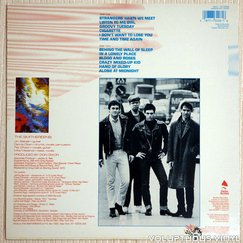The Smithereens ‎– Especially For You - Vinyl Record - Back Cover