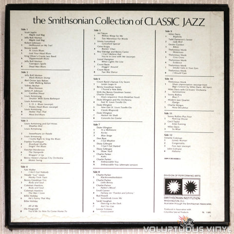 The Smithsonian Collection Of Classic Jazz - Vinyl Record - Back Cover