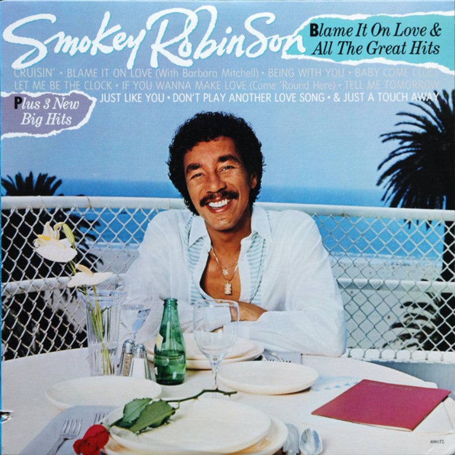 Smokey Robinson ‎– Blame It On Love & All The Great Hits - Vinyl Record - Front Cover
