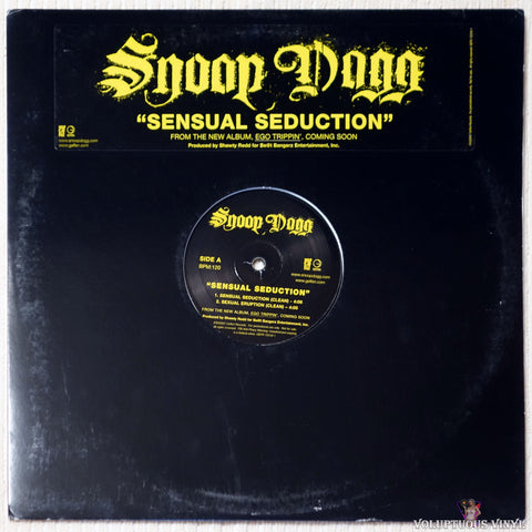 Snoop Dogg ‎– Sensual Seduction vinyl record front cover
