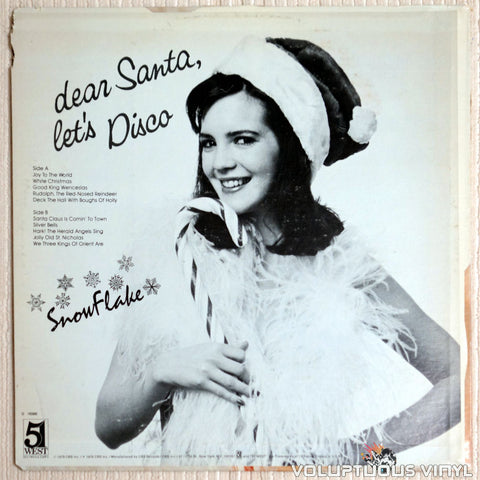 Snowflake ‎– Dear Santa, Let's Disco - Vinyl Record - Back Cover