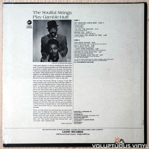 The Soulful Strings ‎– The Soulful Strings Play Gamble-Huff - Vinyl Record - Back Cover
