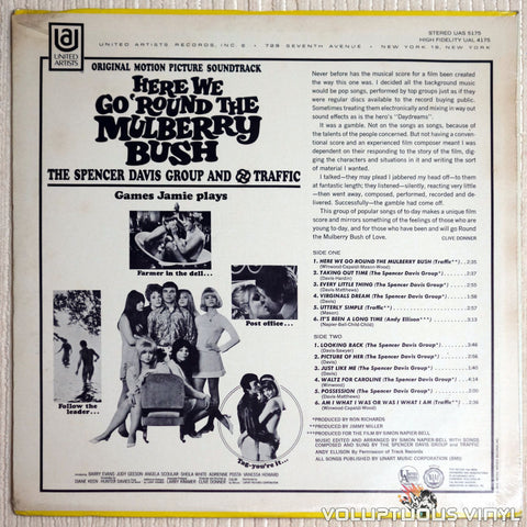 The Spencer Davis Group / Traffic ‎– Here We Go 'Round The Mulberry Bush - Vinyl Record - Back Cover