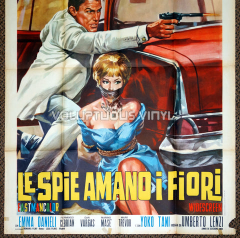 The Spy Who Loved Flowers 1966 Italian 2F - Bottom Half