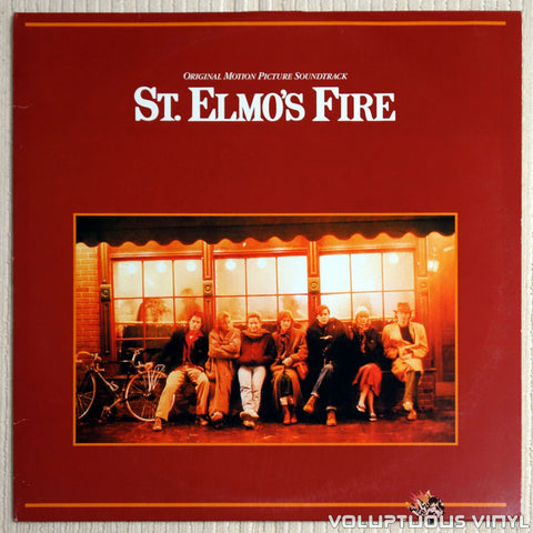 Various ‎– St. Elmo's Fire Soundtrack - Vinyl Record - Front Cover
