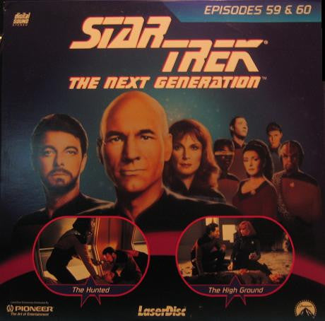Star Trek Next Generation #059/60: the Hunted/The High Ground (1990) LaserDisc