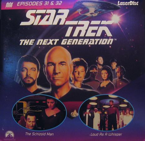 Star Trek Next Generation #031/32: Schizoid Man/Loud As A Whisper (1989) LaserDisc