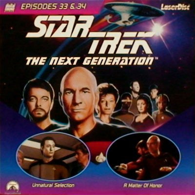 Star Trek Next Generation #033/34: Unnatural/Matter of Honor (1989) LaserDisc