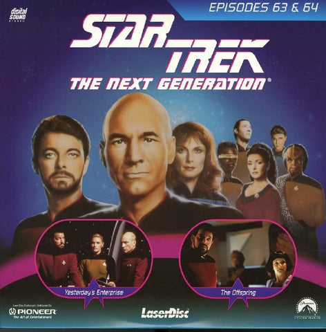 Star Trek Next Generation #063/64: Yesterday's Enterprise/The Offspring (1990) LaserDisc
