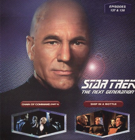Star Trek Next Generation #137/138: Chain of Command #2/Ship in A Bottle LaserDisc
