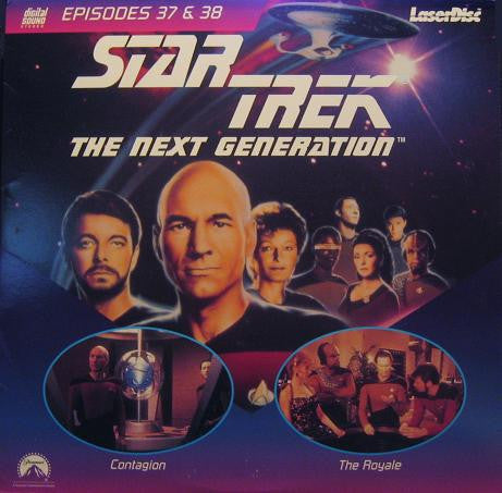 Star Trek Next Generation #037/38: Contagion/The Royale LaserDisc