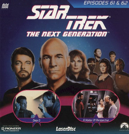 Star Trek Next Generation #061/62: Deja Q/Matter of Perspective LaserDisc