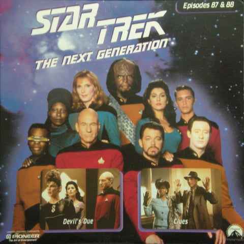 Star Trek Next Generation #087/88: Devil's Due/Clues LaserDisc
