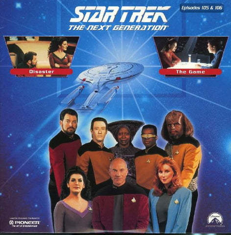 Star Trek Next Generation #105/106: Disaster/The Game LaserDisc