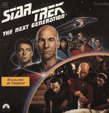 Star Trek Next Generation #001/2: Encounter at Farpoint (1987) LaserDisc