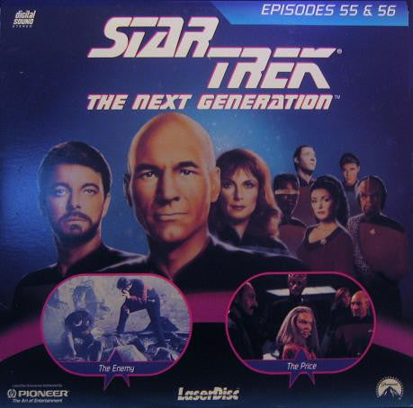 Star Trek Next Generation #055/56: the Enemy/The Price LaserDisc