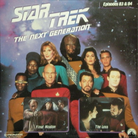 Star Trek Next Generation #083/84: Final Mission/The Loss LaserDisc