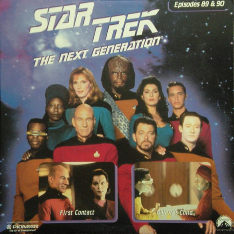 Star Trek Next Generation #089/90: First Contact/Galaxy's Child LaserDisc