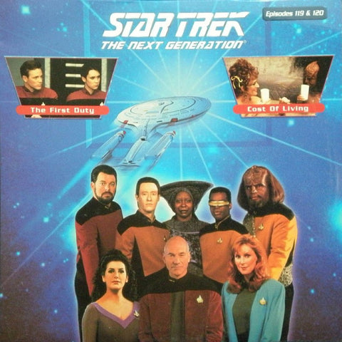 Star Trek Next Generation #119/120: the First Duty/Cost of Living LaserDisc