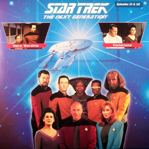 Star Trek Next Generation #111/112: Hero Worship/Violations LaserDisc