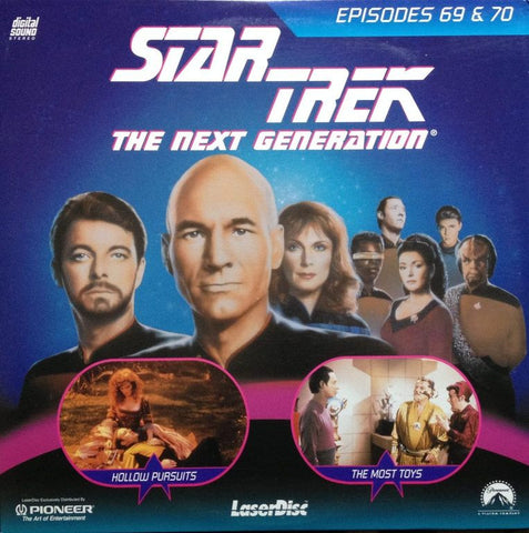 Star Trek Next Generation #069/70: Hollow Pursuits/The Most Toys LaserDisc