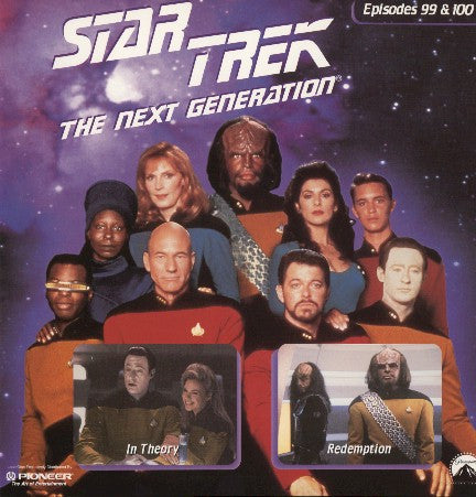 Star Trek Next Generation #099/100: in Theory/Redemption #1 LaserDisc