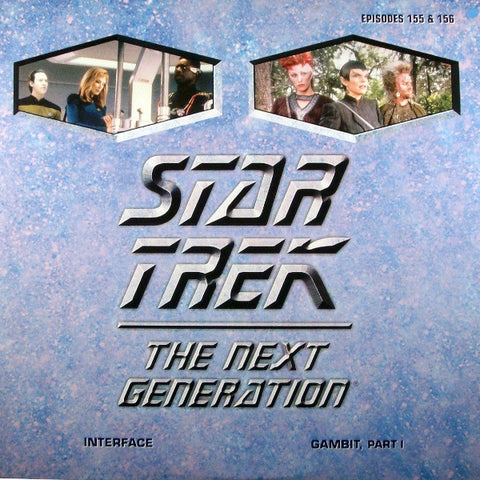 Star Trek Next Generation #155/156: Interface/Gambit #1 LaserDisc
