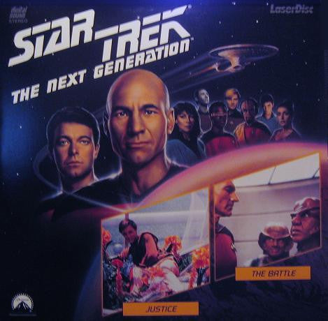Star Trek Next Generation #009/10: Justice/The Battle LaserDisc