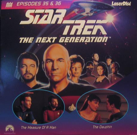 Star Trek Next Generation #035/36: The Measure of a Man/The Dauphin (1989) LaserDisc