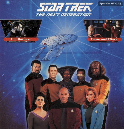 Star Trek Next Generation #117/118: the Outcast/Cause & Effect LaserDisc