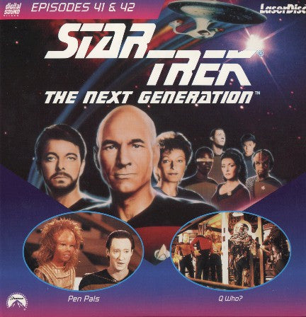 Star Trek Next Generation #041/42: Pen Pals/Q Who? (1989) LaserDisc