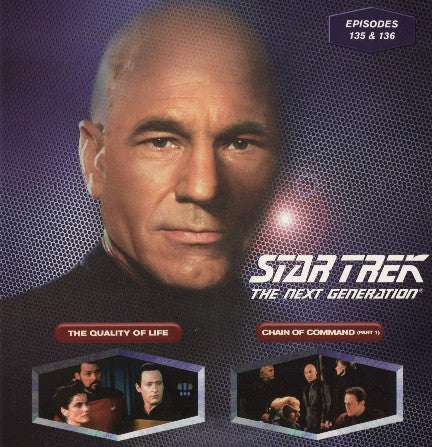 Star Trek Next Generation #135/136: the Quality of Life/Chain of Command #1 LaserDisc