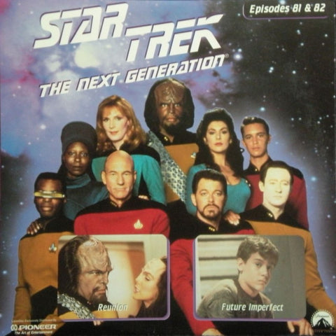 Star Trek Next Generation #081/82: Reunion/Future Imperfect LaserDisc