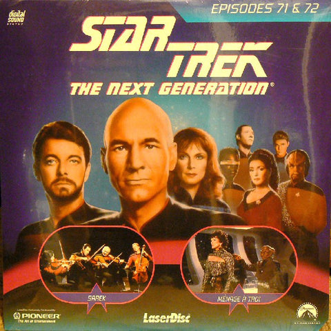 Star Trek Next Generation #071/72: Sarek/Menage A Troi LaserDisc