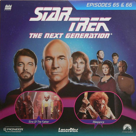 Star Trek Next Generation #065/66: Sins of the Father/Allegiance LaserDisc