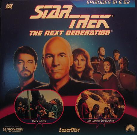 Star Trek Next Generation #051/52: Survivors/Who Watches LaserDisc