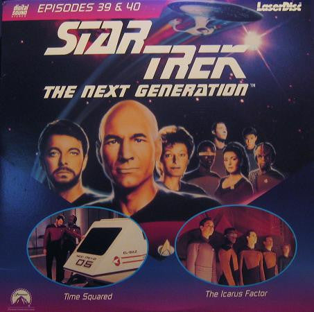 Star Trek Next Generation #039/40: Time Squared/Icarus Factor LaserDisc