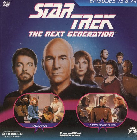 Star Trek Next Generation #073/74: Transfigurations/Best of Both Worlds #1 (1990) LaserDisc